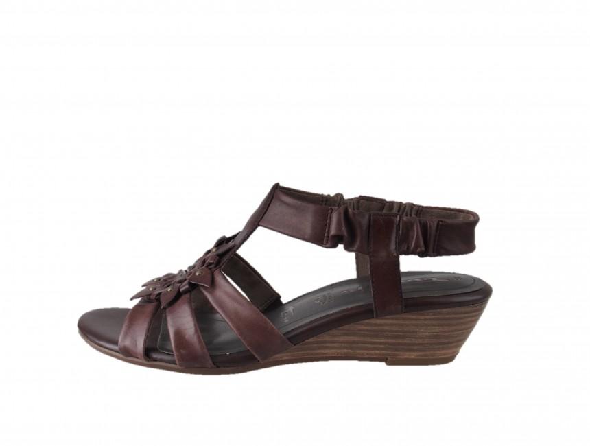 5547fe32a08e Tamaris dámske kožené sandále - hnedé Tamaris dámske kožené sandále - hnedé  ...