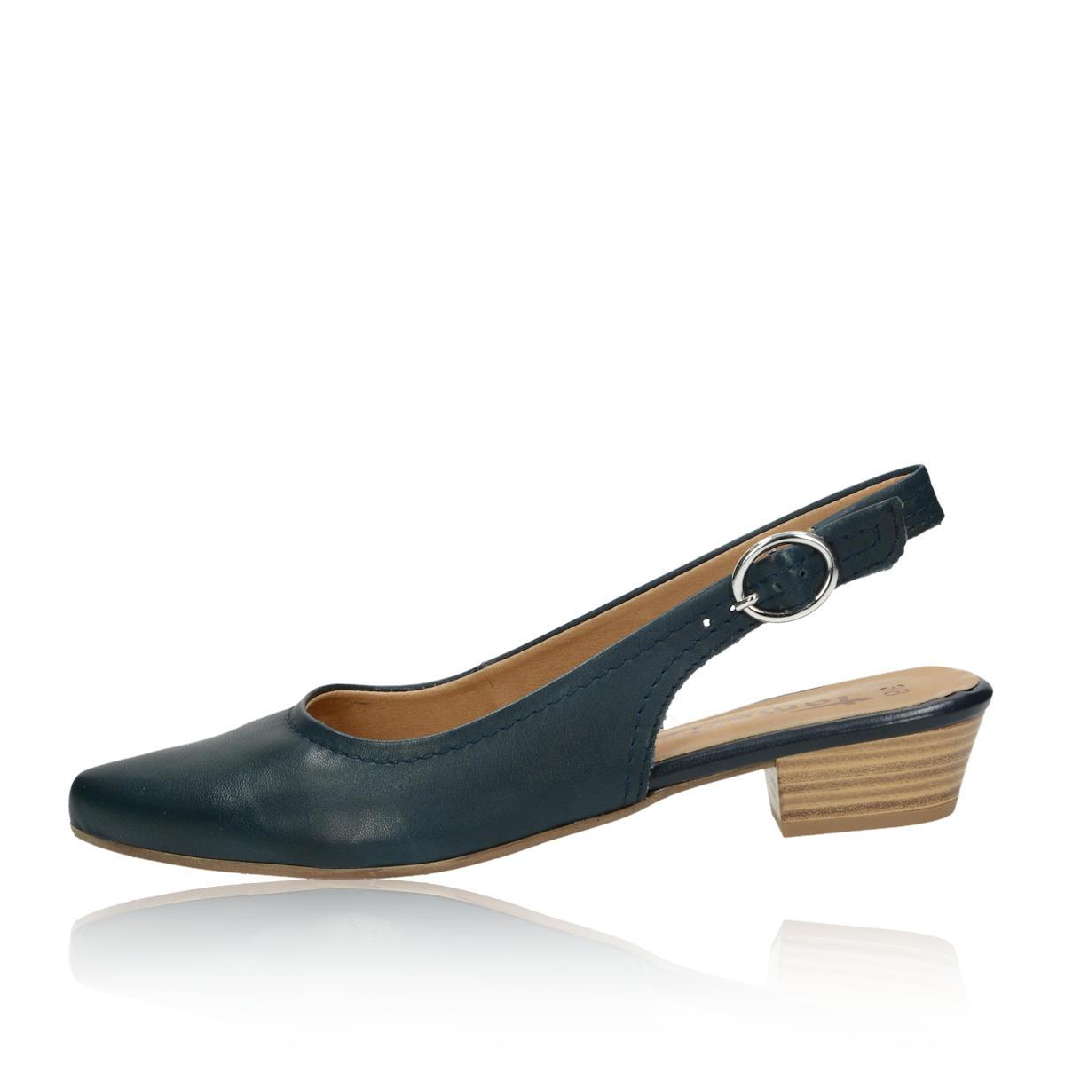 35ebeecdf5 Tamaris dámske kožené sandále - modré ...