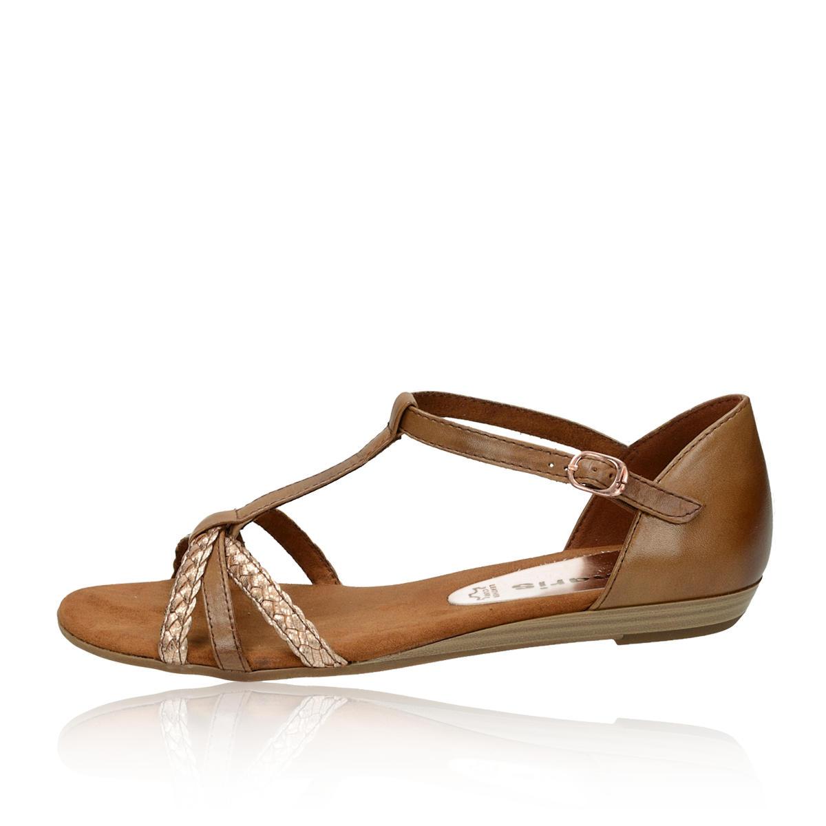 3acfb860f59c Tamaris dámske pohodlné sandále - hnedé Tamaris dámske pohodlné sandále -  hnedé ...
