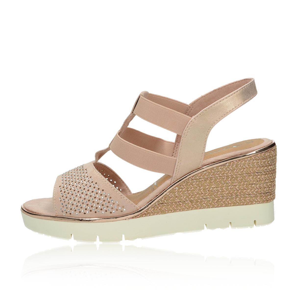 7ddc5ec640a9 ... Tamaris dámske pohodlné sandále na klinovej podrážke - ružové ...