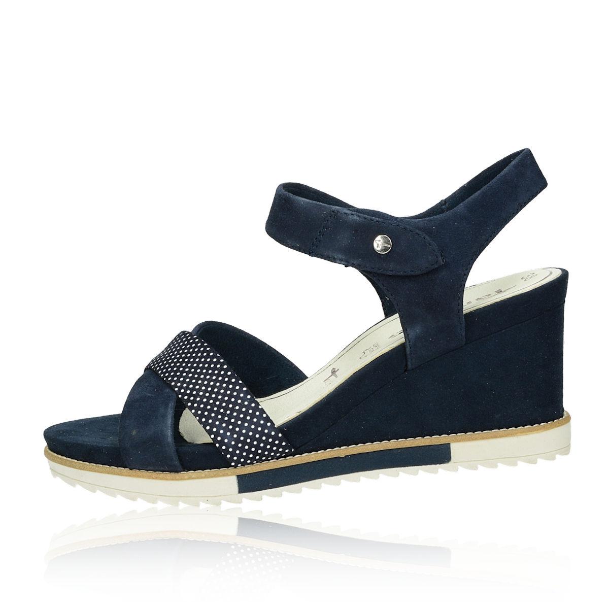 5d4ab3f178a1 Tamaris dámske semišové pohodlné sandále - tmavomodré Tamaris dámske  semišové pohodlné sandále - tmavomodré ...