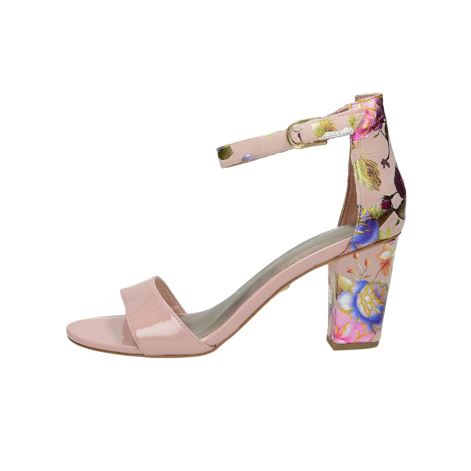 a2b14085c6 Tamaris dámske štýlové kvetinové sandále - ružové ...
