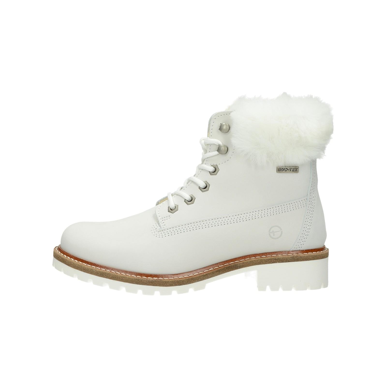 de0610168f29 ... Tamaris dámske štýlové nízke čižmy - biele ...