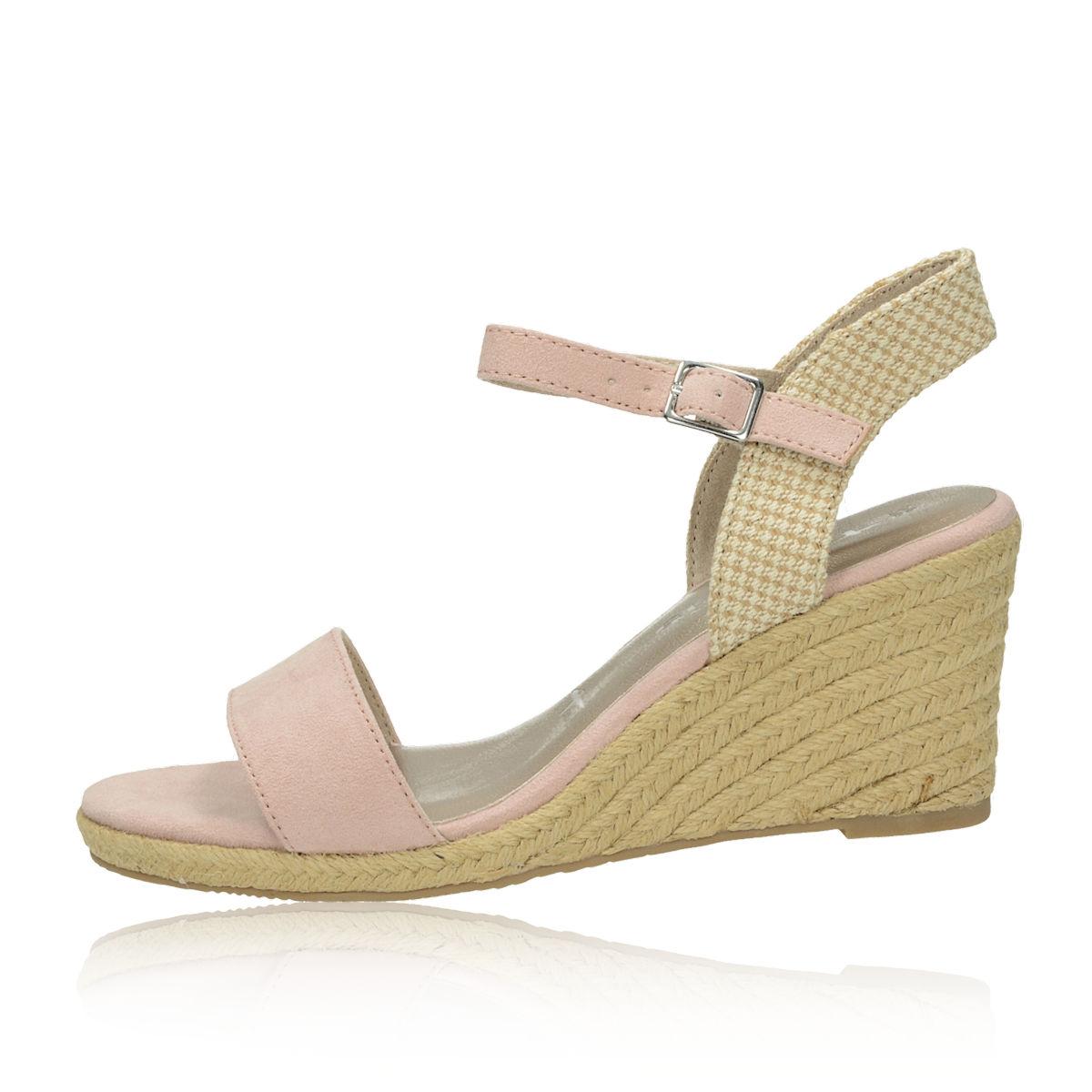 b8d1207819592 ... Tamaris dámske štýlové sandále na klinovej podrážke - ružové ...