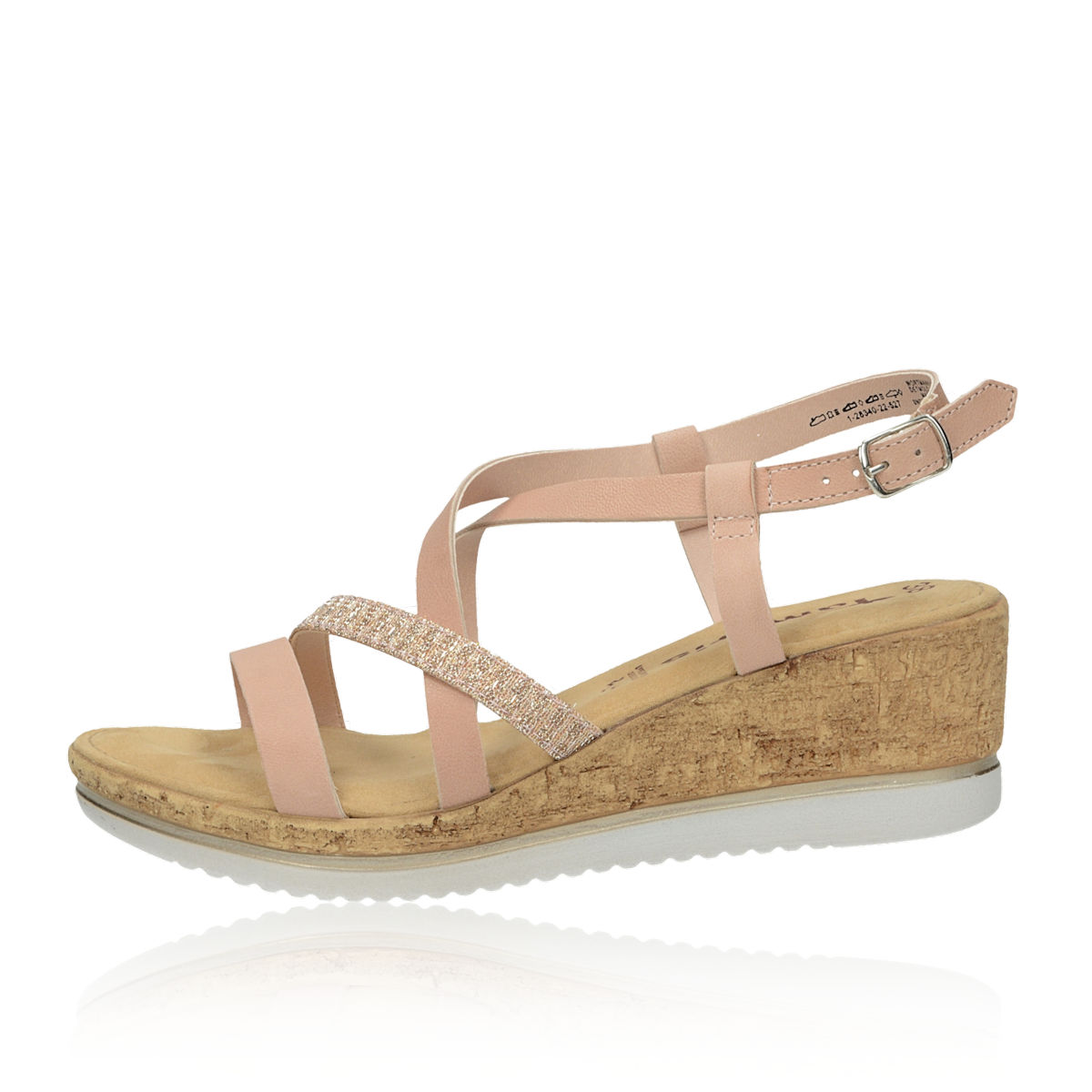 cb3cd514eb0b Tamaris dámske štýlové sandále - ružové Tamaris dámske štýlové sandále -  ružové ...