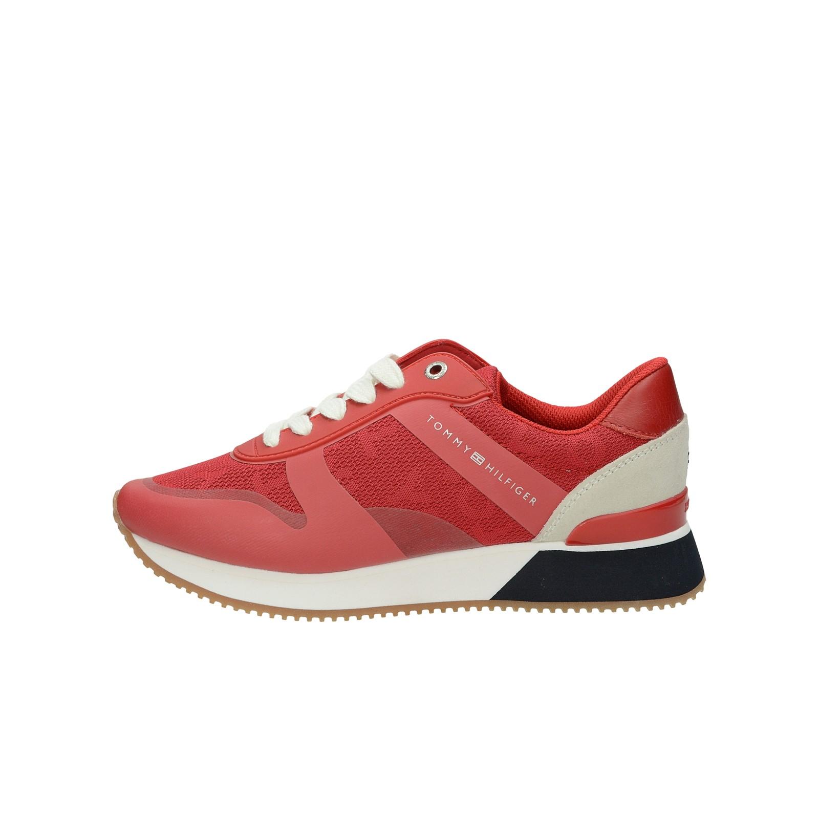 7fd1a8600f ... Tommy Hilfiger dámske štýlové tenisky - červené ...