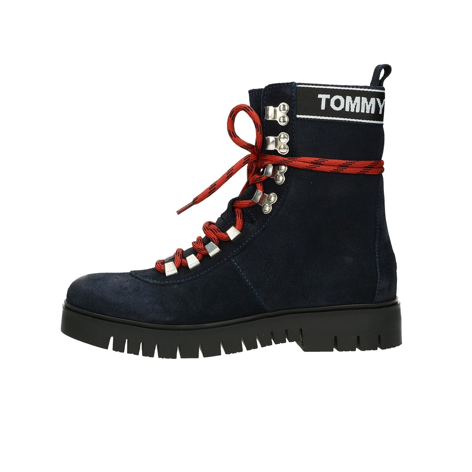 3139d7e28 Tommy Hilfiger dámske vysoké kotníky - modré | EN0EN00369403 ...
