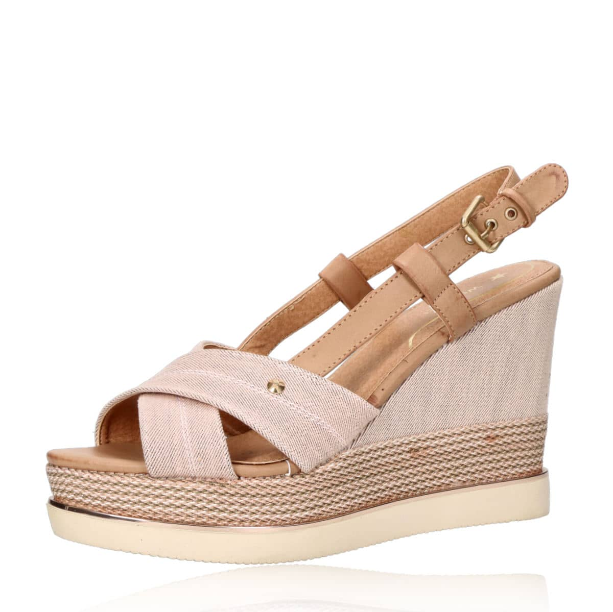 e7783ea174be ... Wrangler dámske štýlové sandále na klinovej podrážke - ružové ...